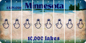 Minnesota MIDDLE FINGER Cut License Plate Strips (Set of 8) LPS-MN1-091