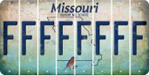 Missouri F Cut License Plate Strips (Set of 8) LPS-MO1-006