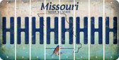 Missouri H Cut License Plate Strips (Set of 8) LPS-MO1-008