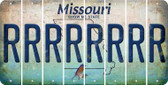 Missouri R Cut License Plate Strips (Set of 8) LPS-MO1-018