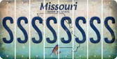 Missouri S Cut License Plate Strips (Set of 8) LPS-MO1-019