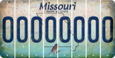 Missouri 0 Cut License Plate Strips (Set of 8) LPS-MO1-027