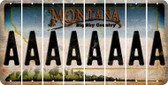 Montana A Cut License Plate Strips (Set of 8) LPS-MT1-001