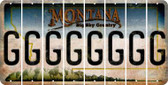 Montana G Cut License Plate Strips (Set of 8) LPS-MT1-007