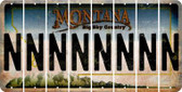 Montana N Cut License Plate Strips (Set of 8) LPS-MT1-014