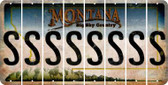Montana S Cut License Plate Strips (Set of 8) LPS-MT1-019