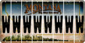 Montana W Cut License Plate Strips (Set of 8) LPS-MT1-023