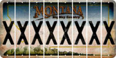 Montana X Cut License Plate Strips (Set of 8) LPS-MT1-024