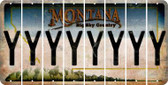 Montana Y Cut License Plate Strips (Set of 8) LPS-MT1-025