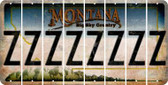 Montana Z Cut License Plate Strips (Set of 8) LPS-MT1-026