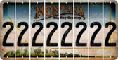 Montana 2 Cut License Plate Strips (Set of 8) LPS-MT1-029