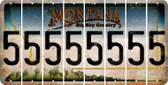 Montana 5 Cut License Plate Strips (Set of 8) LPS-MT1-032