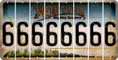 Montana 6 Cut License Plate Strips (Set of 8) LPS-MT1-033
