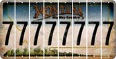 Montana 7 Cut License Plate Strips (Set of 8) LPS-MT1-034