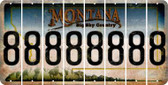 Montana 8 Cut License Plate Strips (Set of 8) LPS-MT1-035