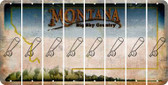 Montana BASEBALL WITH BAT Cut License Plate Strips (Set of 8) LPS-MT1-057
