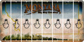 Montana MIDDLE FINGER Cut License Plate Strips (Set of 8) LPS-MT1-091