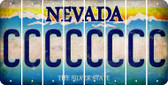Nevada C Cut License Plate Strips (Set of 8) LPS-NV1-003