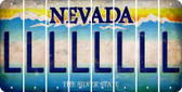 Nevada L Cut License Plate Strips (Set of 8) LPS-NV1-012
