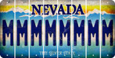 Nevada M Cut License Plate Strips (Set of 8) LPS-NV1-013