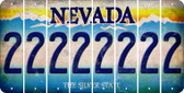 Nevada 2 Cut License Plate Strips (Set of 8) LPS-NV1-029