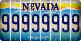 Nevada 9 Cut License Plate Strips (Set of 8) LPS-NV1-036