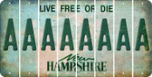 New Hampshire A Cut License Plate Strips (Set of 8) LPS-NH1-001