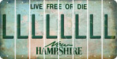 New Hampshire L Cut License Plate Strips (Set of 8) LPS-NH1-012