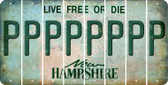 New Hampshire P Cut License Plate Strips (Set of 8) LPS-NH1-016