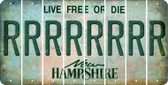 New Hampshire R Cut License Plate Strips (Set of 8) LPS-NH1-018