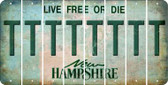 New Hampshire T Cut License Plate Strips (Set of 8) LPS-NH1-020