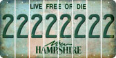 New Hampshire 2 Cut License Plate Strips (Set of 8) LPS-NH1-029