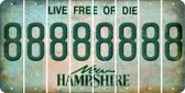 New Hampshire 8 Cut License Plate Strips (Set of 8) LPS-NH1-035