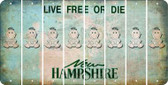 New Hampshire BABY GIRL Cut License Plate Strips (Set of 8) LPS-NH1-067