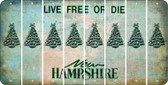 New Hampshire CHRISTMAS TREE Cut License Plate Strips (Set of 8) LPS-NH1-077