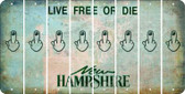 New Hampshire MIDDLE FINGER Cut License Plate Strips (Set of 8) LPS-NH1-091
