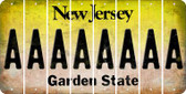 New Jersey A Cut License Plate Strips (Set of 8) LPS-NJ1-001
