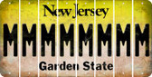 New Jersey M Cut License Plate Strips (Set of 8) LPS-NJ1-013