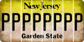 New Jersey P Cut License Plate Strips (Set of 8) LPS-NJ1-016