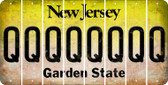New Jersey Q Cut License Plate Strips (Set of 8) LPS-NJ1-017