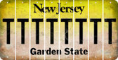 New Jersey T Cut License Plate Strips (Set of 8) LPS-NJ1-020