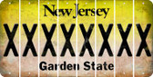 New Jersey X Cut License Plate Strips (Set of 8) LPS-NJ1-024