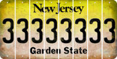 New Jersey 3 Cut License Plate Strips (Set of 8) LPS-NJ1-030