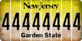 New Jersey 4 Cut License Plate Strips (Set of 8) LPS-NJ1-031
