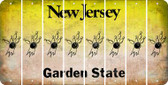 New Jersey BOWLING Cut License Plate Strips (Set of 8) LPS-NJ1-059