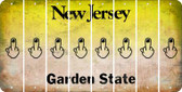 New Jersey MIDDLE FINGER Cut License Plate Strips (Set of 8) LPS-NJ1-091