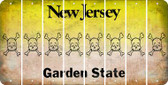 New Jersey SKULL Cut License Plate Strips (Set of 8) LPS-NJ1-092