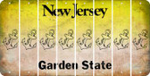 New Jersey ANCHOR Cut License Plate Strips (Set of 8) LPS-NJ1-093