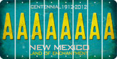 New Mexico A Cut License Plate Strips (Set of 8) LPS-NM1-001