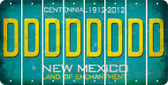 New Mexico D Cut License Plate Strips (Set of 8) LPS-NM1-004